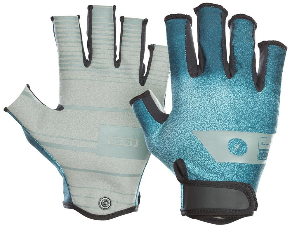 Гидроперчатки Ion Amara Half Finger Glove Teal
